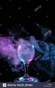 free halloween images on white background abstract art hookah blue and purple smoke in the cocktail glass