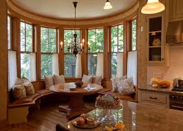 Victorian Kitchen Curtains by Breakfast Nooks In Dining Room Victorian With Natural Wood Trim