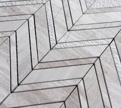Tile Black And White Marble by White Oak Silver Cream Chevron Multi Finish Marble Mosaic Tile