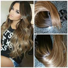 balayage hair extensions 1b 6 27 sunkissed caramel clip in extension set balayage
