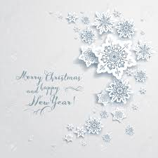 Invitation Cards For Christmas Holiday Christmas Card With Snowflakes Elegant Design For
