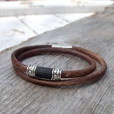bracelet leather man silver images 125 best men 39 s leather jewelry images leather jpg