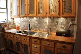 Aluminum Backsplash Kitchen Recycled Metal Tile Gallery Eco Friendly Flooring