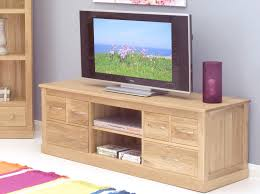Tv Units Mobel Solid Oak Widescreen Tv Cabinet Tv And Hi Fi Cabinets