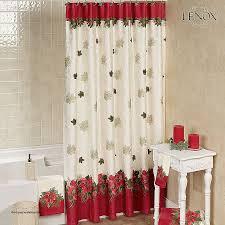 Shower Curtain Clearance Curtains Shower Curtain Clearance New Lenox Poinsettia