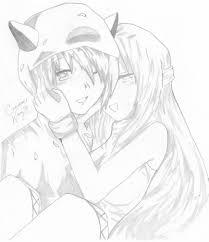 anime couple by randomperfection on deviantart