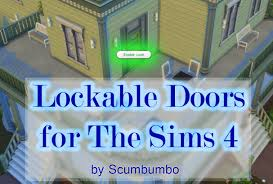 mod the sims door locks for ts4 version 3c