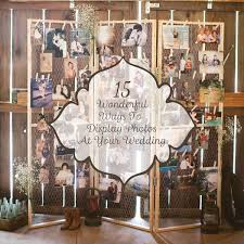 how to at a wedding 15 ways to display photos at your wedding linentablecloth