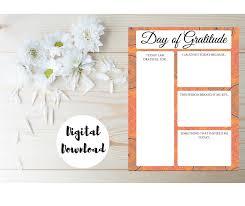 gratitude journal day of gratitude printable worksheet