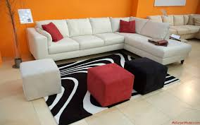 living room rugs modern cool view grey sofa white fur rug awesome