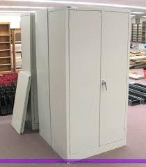 Two Door Storage Cabinet 3 Two Door Metal Storage Cabinets Item 4120 Sold May