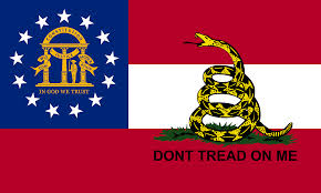 Flag Don T Tread On Me Georgia Gadsden 4 00 Patriotic Flags Online Flag Store