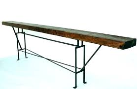 long skinny console table thin table behind couch long thin table long narrow sofa table