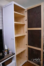 how to diy cabinet how to build a storage cabinet in 9 steps simply handmade