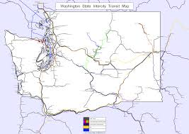 State Of Washington Map by A Map Of Transit Across Washington State Transit 509