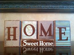 home sweet home wood block sign home decor fireplace mantel or