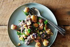roasted potato salad with mustard walnut vinaigrette recipe on food52
