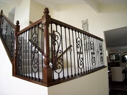 Wooden Stair Banisters Iron U0026 Wood Stair Railing Contractors Laguna Niguel Ca