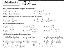 extra practice 10 4 solving rational equations 8th 11th grade