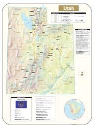 Utah County Plat Maps Utah Shaded Relief Map U2013 Kappa Map Group