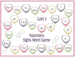 valentine sight word game boards freebie make take u0026 teach