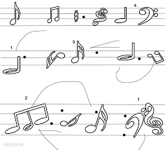 music notes coloring pages music note coloring page free