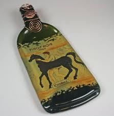 flattened wine bottle platter 26 best gibson pottery glass melted bottle images on