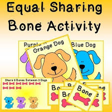 equal sharing printable activity first division math center tpt