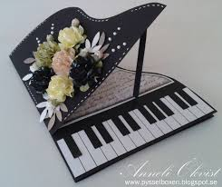 musical cards handmade birthday card black and white with a pop of pink