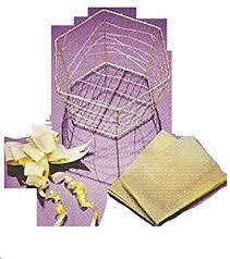 Make Your Own Gift Basket Avon Make Your Own Diy Gold Hexagonal Wire Gift Basket X5 Amazon