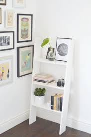 diy ladder shelf burkatron