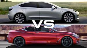 lexus vs infiniti price 2018 tesla model 3 vs 2017 infiniti q60 youtube