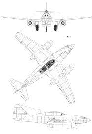 Blueprints Free by Messerschmitt Me 262 Blueprint Download Free Blueprint For 3d