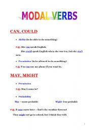 english teaching worksheets modal verbs