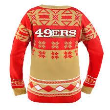 san francisco 49ers women u0027s nfl v neck ugly sweater walmart com