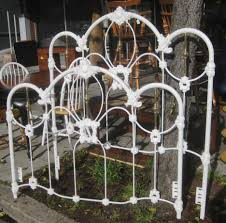 bed frames white metal bed frame queen black wrought iron
