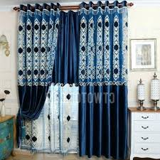 Velvet Blackout Thermal Curtains Royal Blue Blackout Curtains U2013 Teawing Co