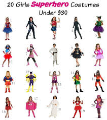 Superhero Halloween Costumes Girls 20 Girls Superhero Halloween Costumes 30 Mom