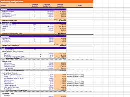 Business Plan Budget Template Excel Marketing Budget Plan Template