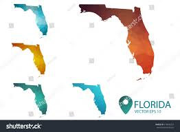 Florida Maps Set Florida Maps Bright Gradient Map Stock Vector 619043357