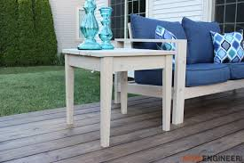 Free Woodworking Plans Patio Table by Simple Outdoor Side Table Rogue Engineer