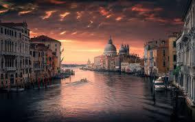 canap de sol descargar fondos de pantalla venecia italia puesta de sol canal