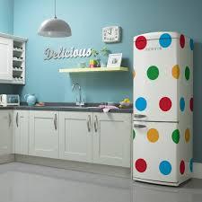 modern retro kitchen appliance the exclusive polka dot retro fridge freezer available from
