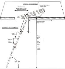 instructions on how to fit a sliding loft ladder bps access
