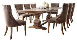 9 dining room set homelegance louise 9 dining room set rustic brown