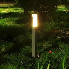 Bollard Landscape Lighting 2 Pieces Lot Square Led Pole Bollard L Villa Garden Standing