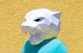 digital halloween mask diy panther mask panther mask forest animal papercraft