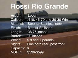 gun review the rossi rio grande a budget lever gun video