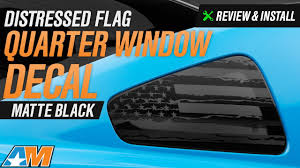 Flag Car Decals 2010 2014 Mustang Distressed Flag Quarter Window Decal Review