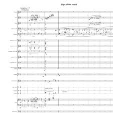 light of the world chords score of the week light of the world all souls music